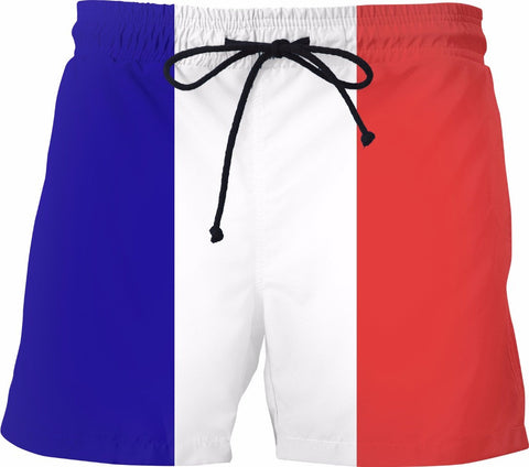French Flag Swim Shorts - SS0495