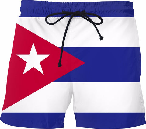 Cuban Flag Swim Shorts - SS0494