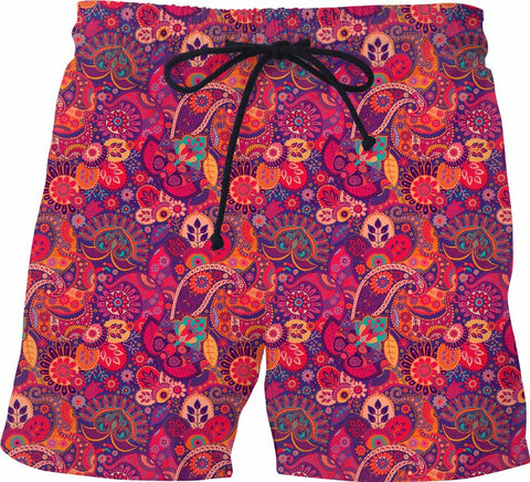 Paisley Swim Shorts - SS0125 - TROD Lightly