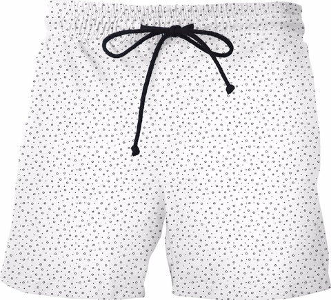 Minimalist Black and White Swim Shorts - SS0108