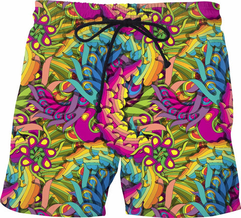 """Color Explosion"" Swim Shorts - SS0056 - TROD Lightly"