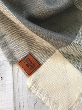Sweater Weather Co. Blanket Scarf - Gray + Lavender
