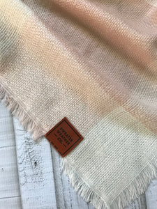 Sweater Weather Co. Blanket Scarf - Taupe + Blush