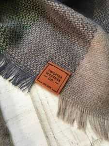 Sweater Weather Co. Blanket Scarf - Green + Gray