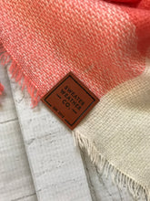 Sweater Weather Co. Blanket Scarf - Gray + Coral