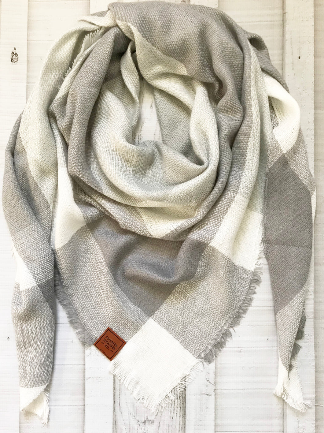 Sweater Weather Co. Blanket Scarf - True Gray