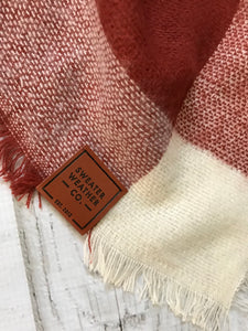 Sweater Weather Co. Blanket Scarf - Cocoa + Rust