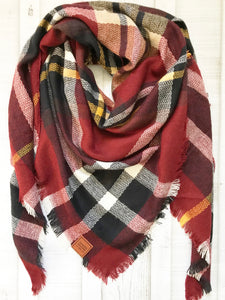 Sweater Weather Co. Blanket Scarf - Original Red Plaid