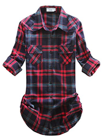 Plaid Flannel Shirt - Navy