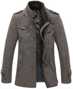 Wool Blend Coat in Coffee