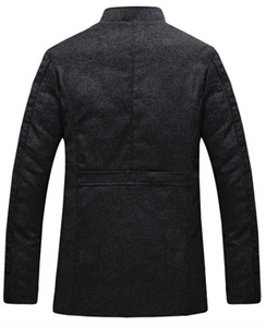 Wool Blend Coat in Black