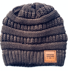 Sweater Weather Co. Beanie - Coffee