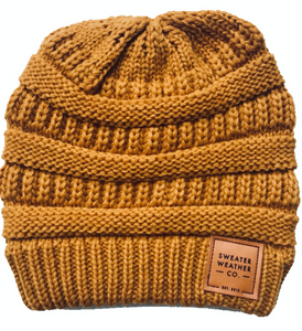 Sweater Weather Co. Beanie - Mustard