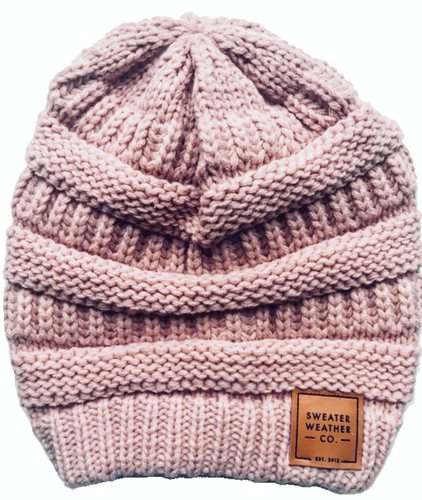 Sweater Weather Co. Beanie - Rose