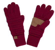 Knitted Gloves - Red