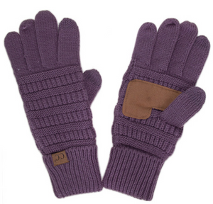 Knitted Gloves - Purple