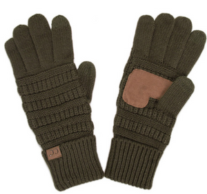 Knitted Gloves - New Olive