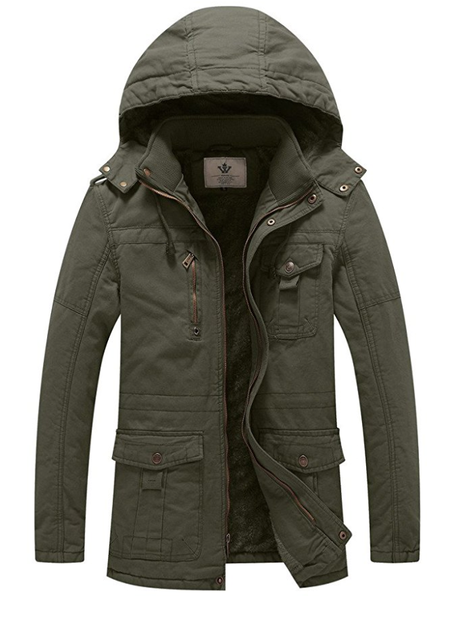 Military Style Hooded Jacket - Green