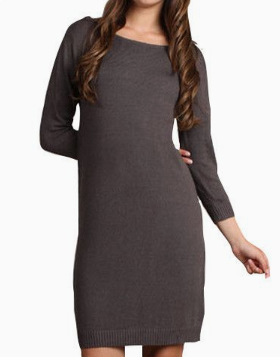 Sweater Dress - Cocoa
