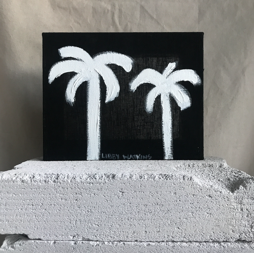 Mini White Ink Palm | 190728