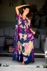 Singapore Nights La Palma long split hem kaftan