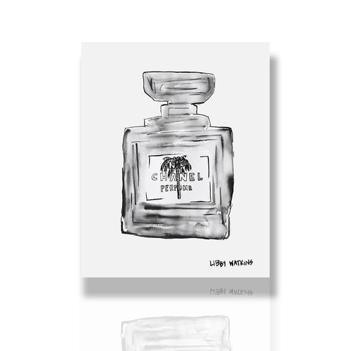 Chanel Ink Palm Print