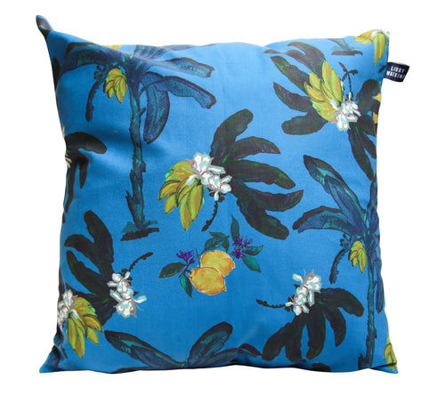 Banana Bungalow Cushion Blue- 60cm