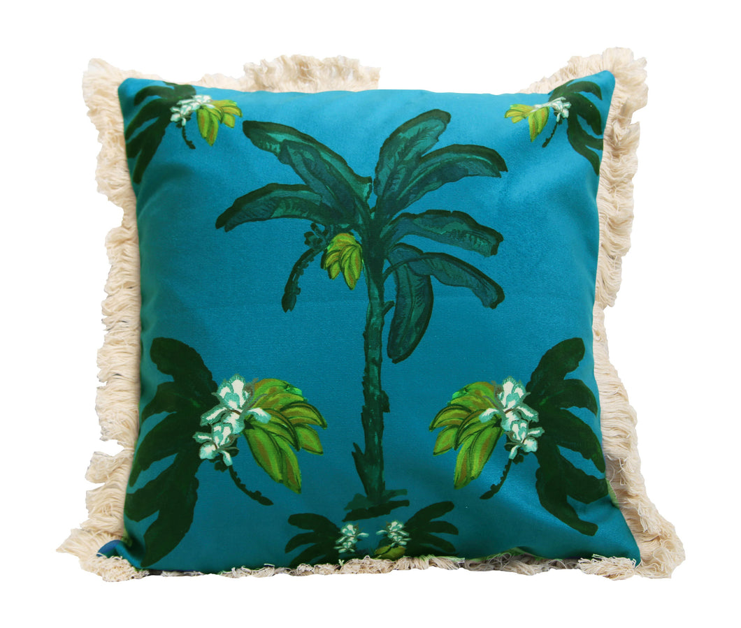 Banana Bungalow Cushion - Teal 45cm