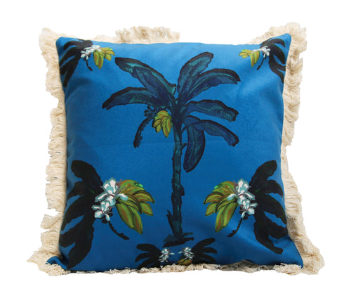 Banana Bungalow Cushion - Blue 45cm