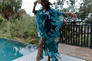Gypsy Palm in La Palma long split hem kaftan