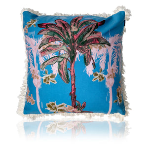 Palm Hills Cushion - 45cm Vintage Blue