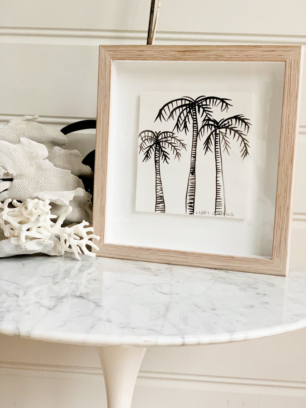 Signature Libby Watkins | Mini Ink Palm | 91804 | Made to order with artist Libby Watkins