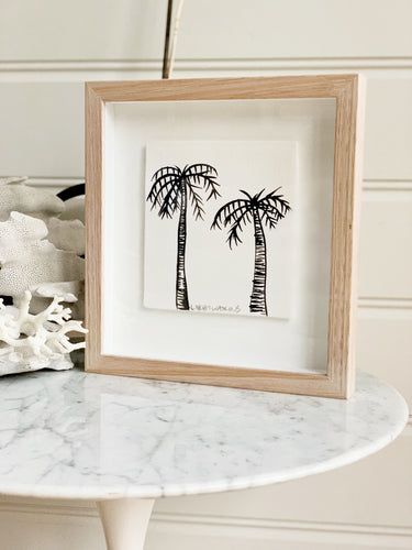 Signature Libby Watkins | Mini Ink Palm | 91806 | Made to order with artist Libby Watkins