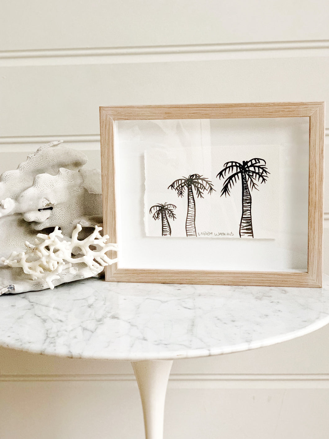 Signature Libby Watkins | Mini Ink Palm | 91809 | Made to order with artist Libby Watkins