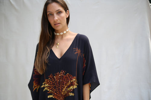 Coco Cabana in La Palma long split hem kaftan