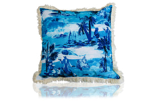 Calypso Capri Cushion in island Blue 60cm