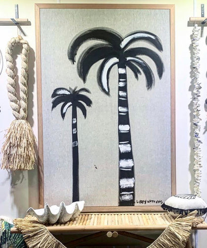 Linen Ink Palms - Super size