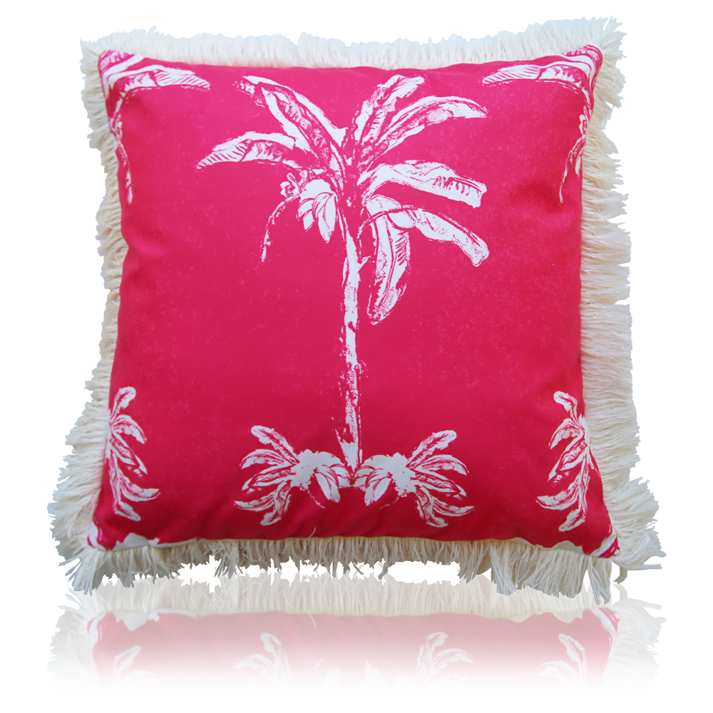 Banana Bungalow Cushion - Pink 45cm