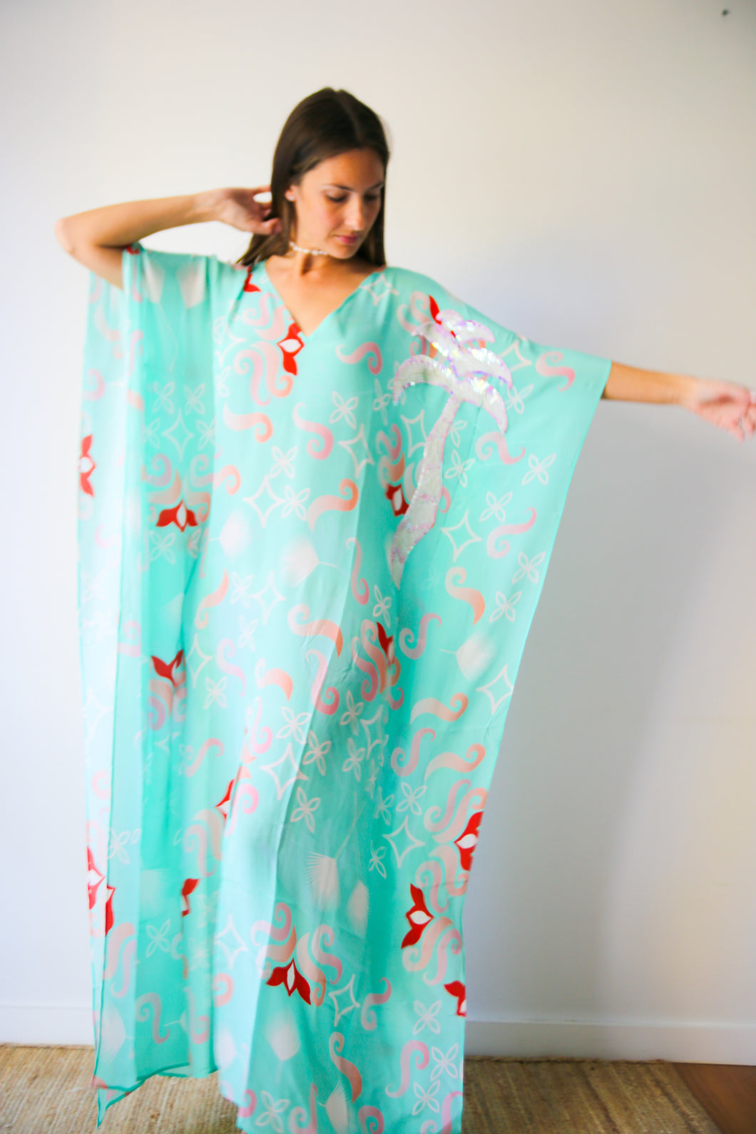 Marakech in La Palma long split hem kaftan