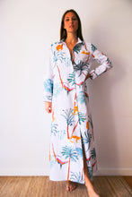 Resort Shirt dress  in De Palmis White