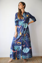 Resort Shirt dress in DE Palmis Blue