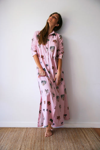 Resort Shirt dress in Palmarum Pink