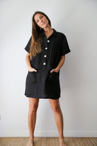 Studio LINEN Dress Black