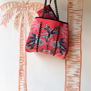 Reversible Tote in Banana Bungalow - Coral