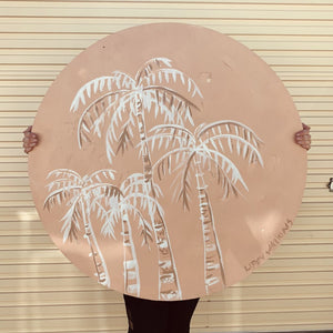 Pink Palms // the round collection 1x1m