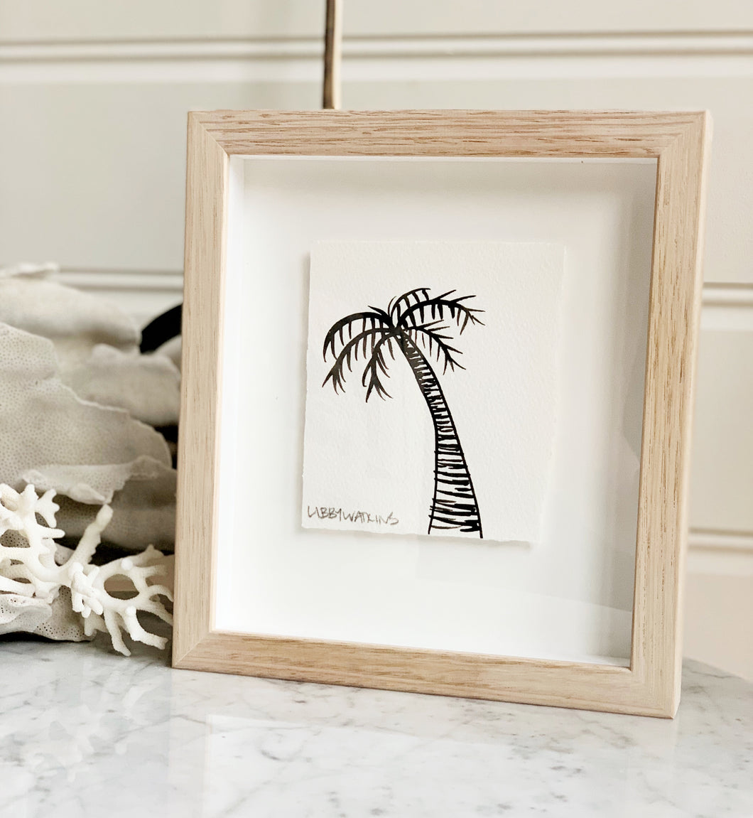 Signature Libby Watkins | Mini Ink Palm | 91801 | Made to order with artist Libby Watkins