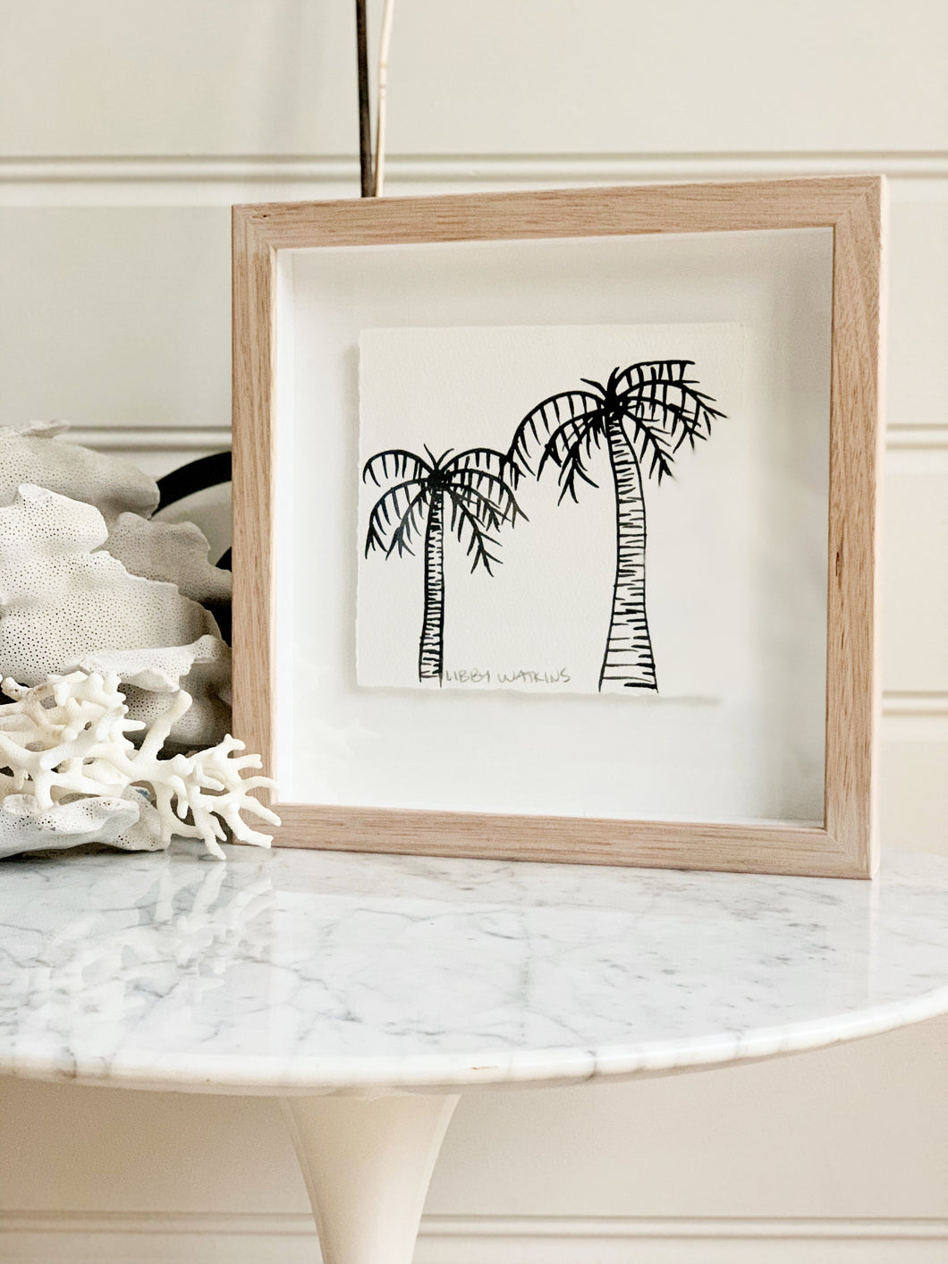 Signature Libby Watkins | Mini Ink Palm | 91802 | Made to order with artist Libby Watkins
