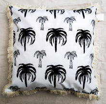 Signature Palm Cushion - White repeat 60cm