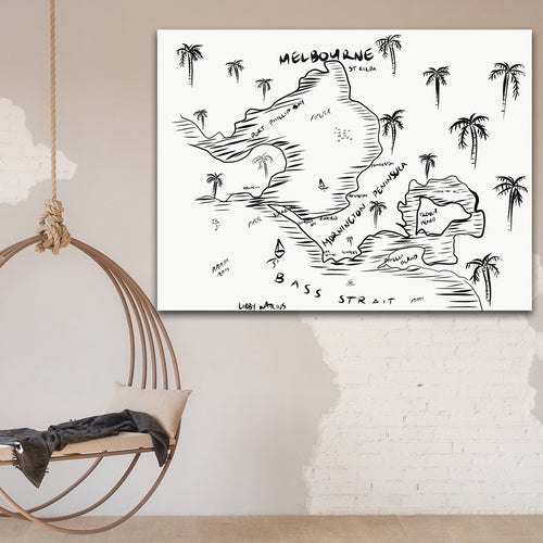 Mornington Peninsula Pirate Map Ink