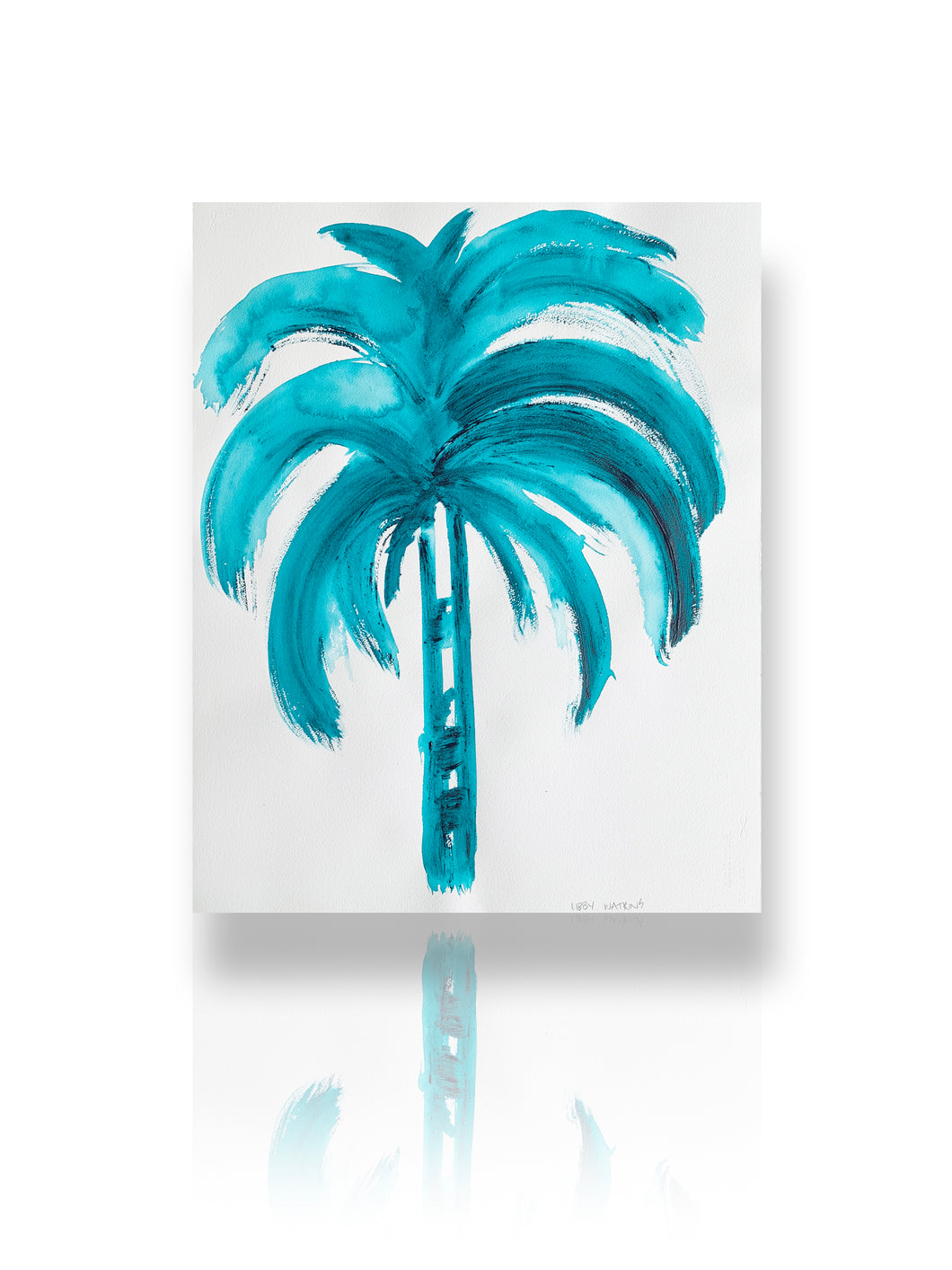 Signature Flat Fan Palm in Aqua